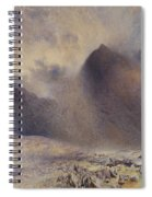 Mount Snowdon Through Clearing Clouds Spiral Notebook