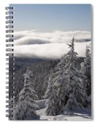 Mountain During Winter Spiral Notebook