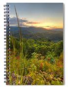 Mountain Evening Spiral Notebook