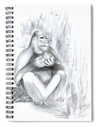 Mountain Gorilla 02 Spiral Notebook