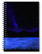 Mountain Lake Glow In The Dark Mural Spiral Notebook