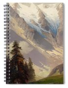 Mountain Landscape With The Grossglockner Spiral Notebook