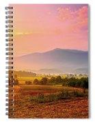Mountain Morning Farm In Cades Cove Spiral Notebook