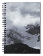 Mountain Panoramic In Winter, Spray Spiral Notebook