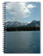 Mountains On The Lake Spiral Notebook
