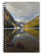 Mountains Reflected In Lake Louise Spiral Notebook