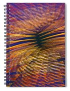 Moving Abstract Lights Spiral Notebook