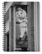 Mr Met In Black And White Spiral Notebook