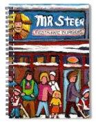 Mr Steer Restaurant Montreal Spiral Notebook