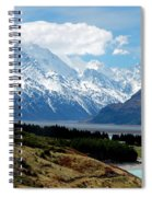 Mt Cook Across Lake Pukaki Spiral Notebook
