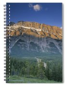 Mt Rundle And The Bow River Spiral Notebook