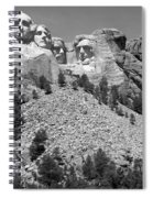 Mt. Rushmore Full View In Black And White Spiral Notebook