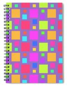 Multicoloured Squares Spiral Notebook