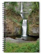 Multnomah Falls - Wide View Spiral Notebook