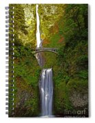 Multnomah Falls At Summer Solstice - Posterized Spiral Notebook