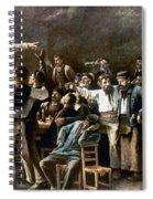 Munkacsy: Strike, 1895 Spiral Notebook