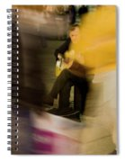 Music In The Flow Of Motion Spiral Notebook