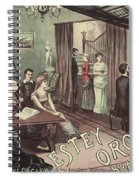 Musical Evening Ad, C1890 Spiral Notebook