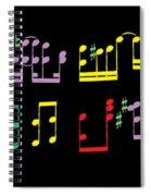 Musical Notes Spiral Notebook