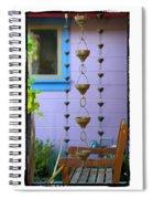 Musical Rain Gutters Spiral Notebook