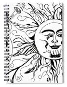 Musical Sunrise Spiral Notebook