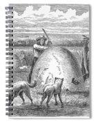 Muskrat Hunting, 1873 Spiral Notebook
