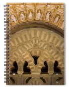 Muslim Arch With Christian Reliefs In Mezquita Spiral Notebook