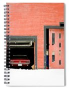 Mustang Car Barn Spiral Notebook