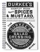 Mustard Ad, 1889 Spiral Notebook