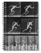 Muybridge Locomotion, Man Running, 1887 Spiral Notebook