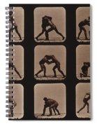 Muybridge Locomotion, Men Wrestling Spiral Notebook