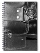 My Biker Cowboy Boot In Black And White Spiral Notebook