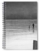 My First Walk On Water Bw Spiral Notebook