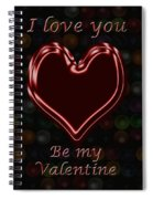 My Heart Is Yours Valentine Card Spiral Notebook