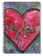 My Love Heart Spiral Notebook