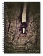 Mysterious Stairway Into A Canyon Spiral Notebook