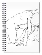 Naked-man-art-18 Spiral Notebook