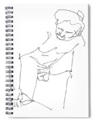 Naked-men-art-14 Spiral Notebook