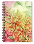 Nandina Leaves Spiral Notebook