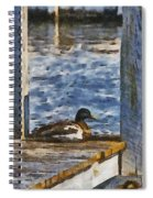 Naptime At The Dock Spiral Notebook