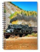 Narrow Gauge Colors In Silverton Spiral Notebook