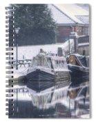Narrowboats At The Boat Inn Spiral Notebook