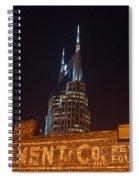 Nashville Downtown Night Scene Spiral Notebook