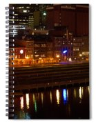 Nashville River Front By Night 1 Spiral Notebook