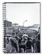 Nathan's Crowd In Coney Island 1 Spiral Notebook