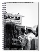Nathan's Crowd In Coney Island 2 Spiral Notebook