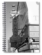 Nathan's Famous At Coney Island In Black And White Spiral Notebook