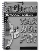 Nathan's Famous In Black And White Spiral Notebook