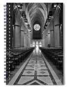 National Cathedral Interior Bw Spiral Notebook