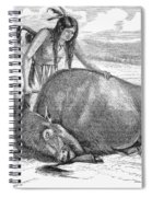 Native Amerians: Cutting Buffalo Spiral Notebook